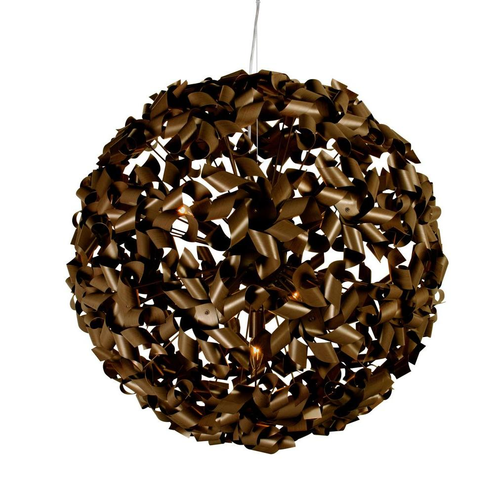 Varaluz Pinwheel 9-Light Chocolate Bronze Large Pendant