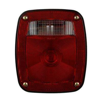 Stop/Tail/Turn 6-5/8 in. Universal Heavy Duty Oblong Lamp Red