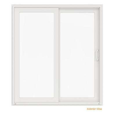 72 in. x 80 in. V-4500 White Vinyl Right-Hand Full Lite Sliding Patio Door