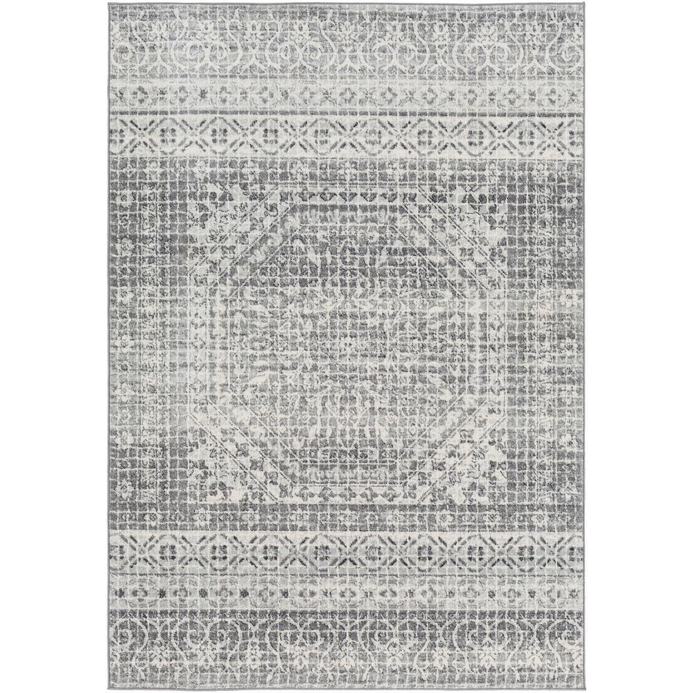 Kassandra Light Grey 7 ft. 10 in. x 10 ft. 3 in. Medallion Area Rug