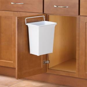 Knape & Vogt 13 inch H x 10 inch W x 7 inch D Plastic In-Cabinet Door Mount Trash Can in... by Knape & Vogt