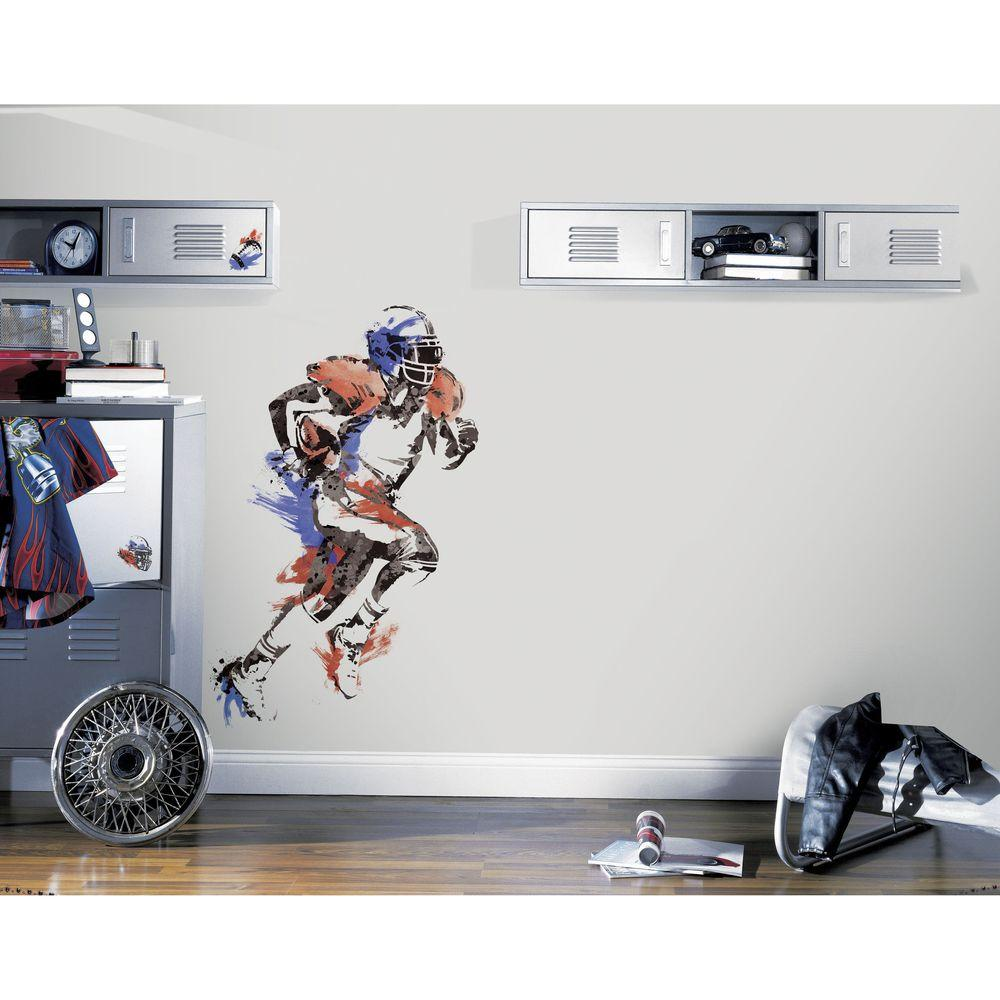 RoomMates 27.5 in. x 37.5 in. Men's Football Champion Peel and Stick Giant Wall Decal