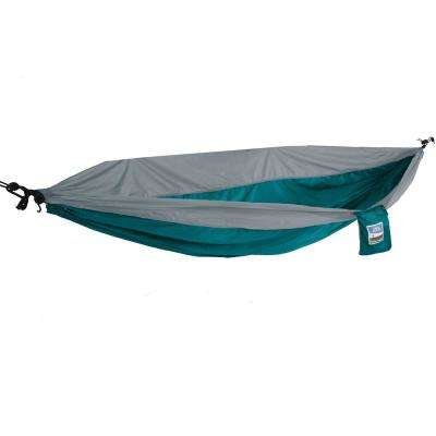 1-Person Turquoise/Gray Travel Hammock