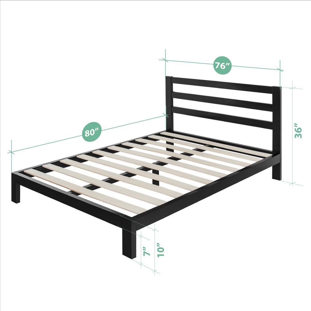 Arnav Modern Studio 10 Inch Platform 2000H Metal Bed Frame, King