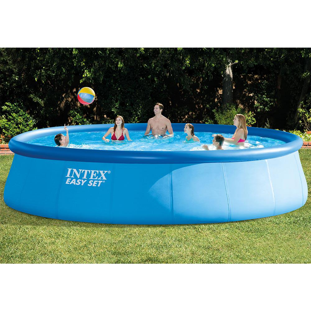 Intex 18 Ft Round X 48 In Deep Easy Above Ground Pool