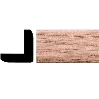 1 in. x 1 in. x 8 ft. Oak Outside Corner Moulding