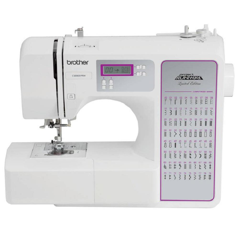 80-Stitch Sewing Machine, White With its 80 unique built-in stitches, the CS-8800PRW will suit all your sewing needs. Equipped with drop feed for free motion quilting, this sewing machine can embellish or join quilt blocks with its built-in quilting stitches. Quilting is not the only use for this sewing machine, as the built-in decorative stitches can be used to embellish clothing, pillows, towels, and more. Color: White.