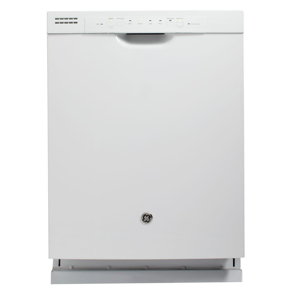 GE Front Control Dishwasher in White