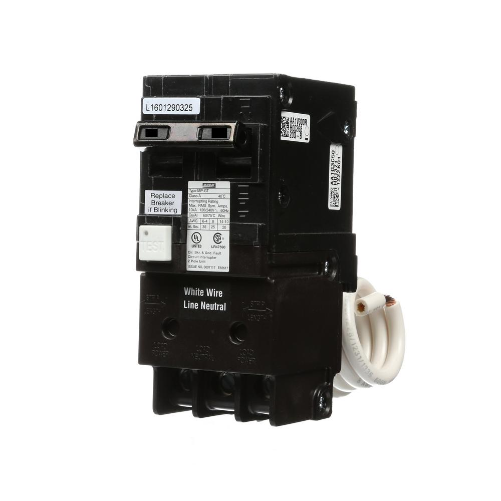 15 Amp Double Pole Type MP-GT2 GFCI Circuit Breaker