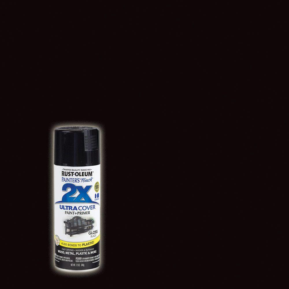 Rust-Oleum Painter's Touch 2X 12 oz. Gloss Black General Purpose Spray Paint