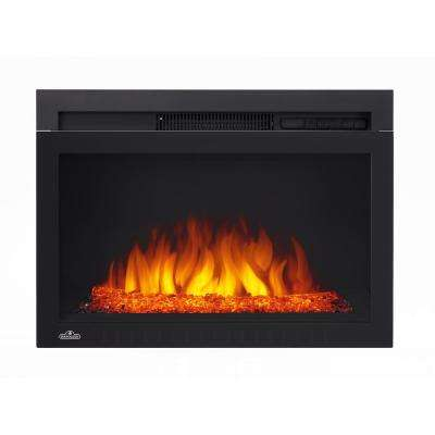 Cinema Series 24 in. Electric Fireplace Insert with Glass