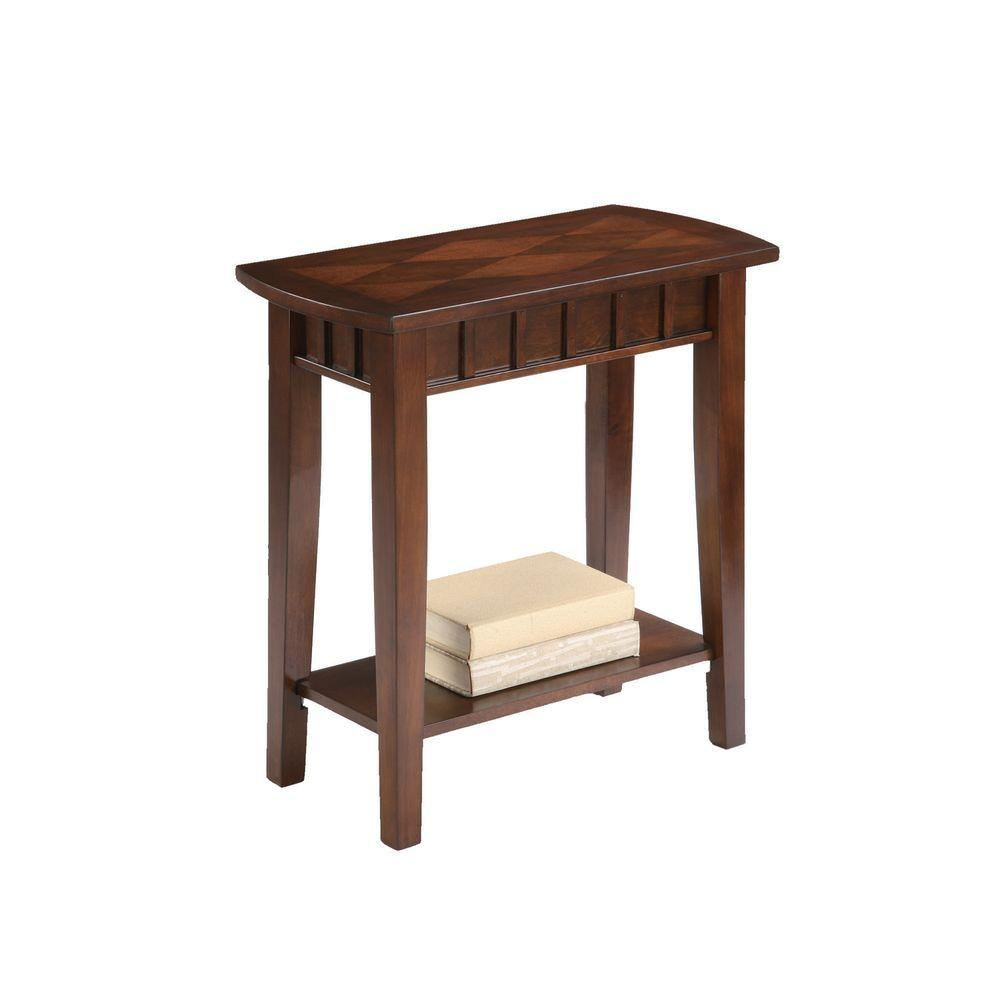 ORE International Brown End Table-7203 - The Home Depot
