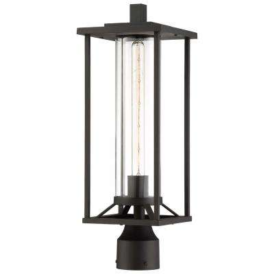 Trescott Black 1-Light Outdoor Post Light