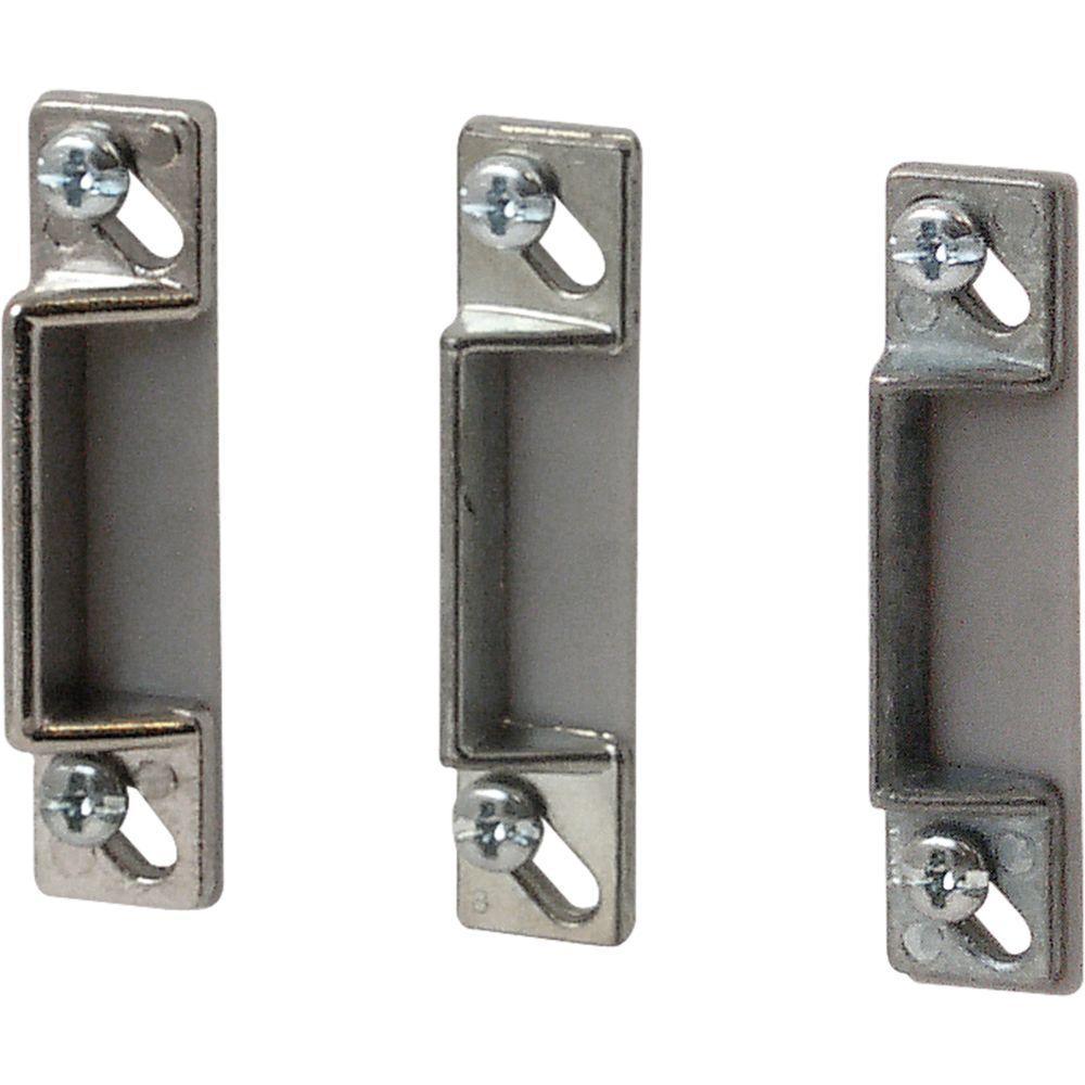 prime line door strike plates set of 3 k 5148 the home. Black Bedroom Furniture Sets. Home Design Ideas