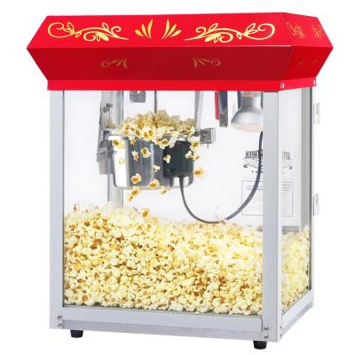Great Northern-All-Star 4 oz. Red Stainless Steel Popcorn Machine