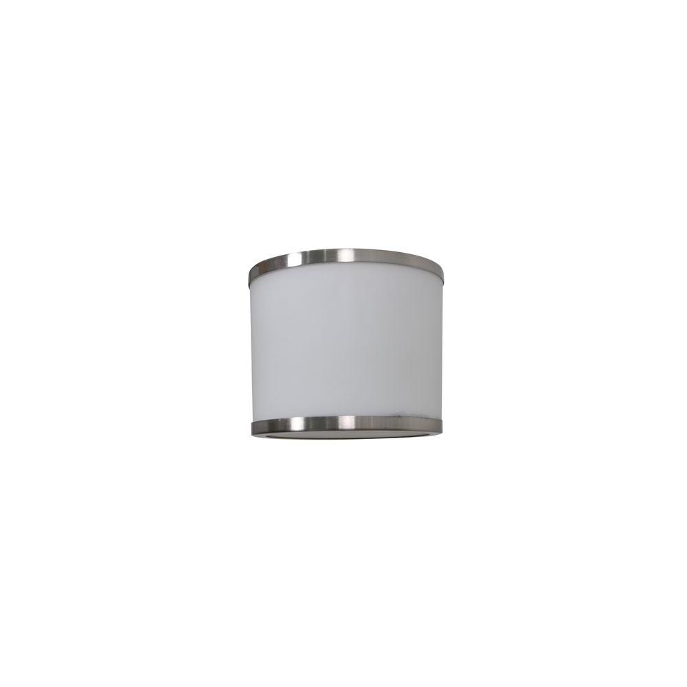 Brushed Nickel Ceiling Fan Light Covers Replacement Glass Opal Frosted 52 in