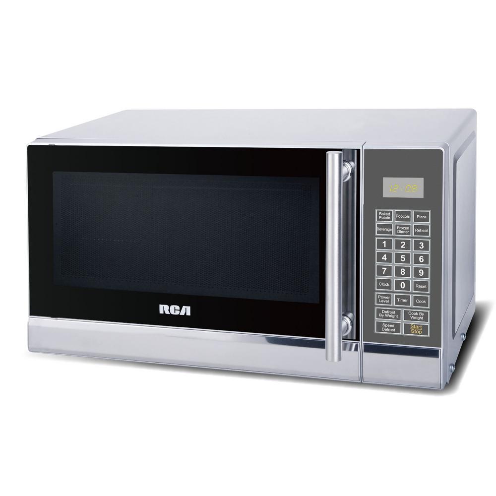 0.7 cu. ft. Countertop Microwave in Stainless Steel