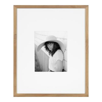 Gallery 16 in. x 20 in. matted to 8 in. x 10 in. Natural Picture Frame