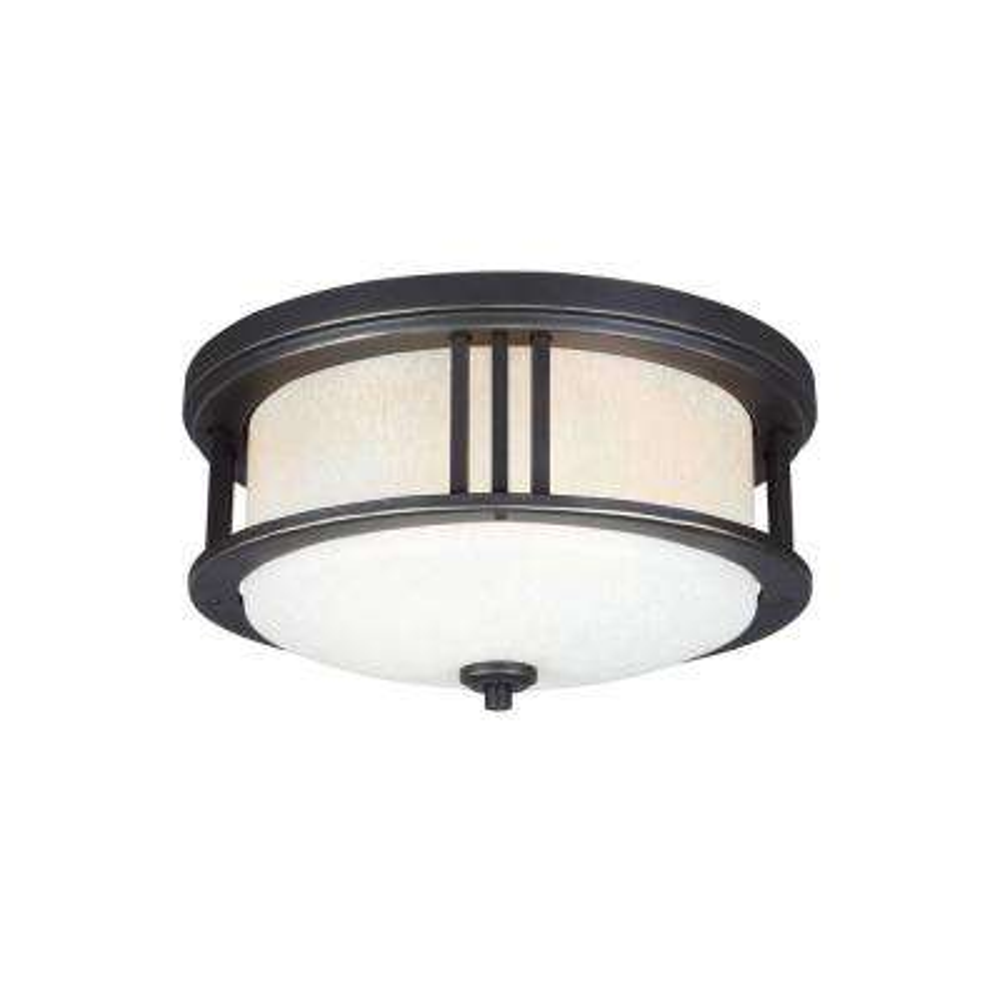 Crowell 2-Light Antique Bronze Ceiling Light