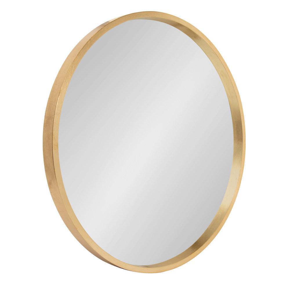 Travis Round Gold Wall Mirror