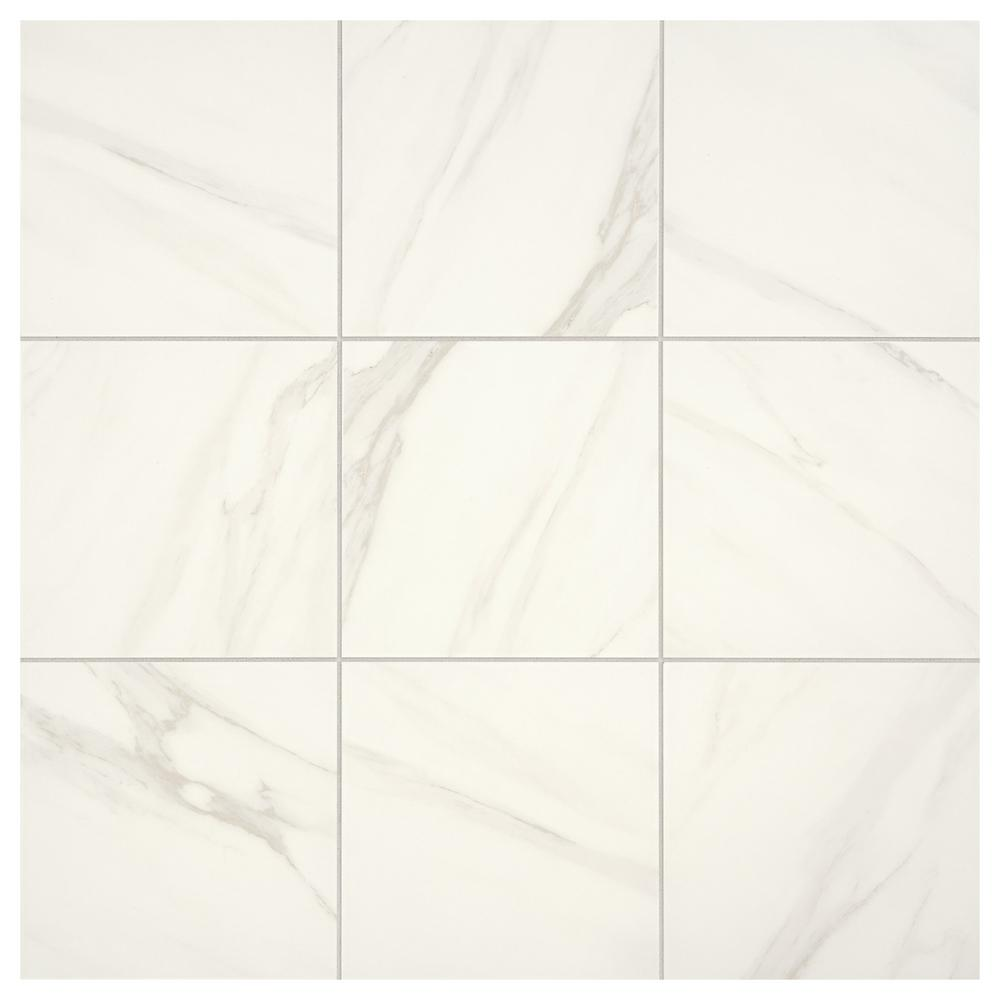 Daltile Selwyn Bianco Calacatta 12 in. x 12 in. Glazed Porcelain Floor and Wall Tile (14.55 sq. ft. / Case)