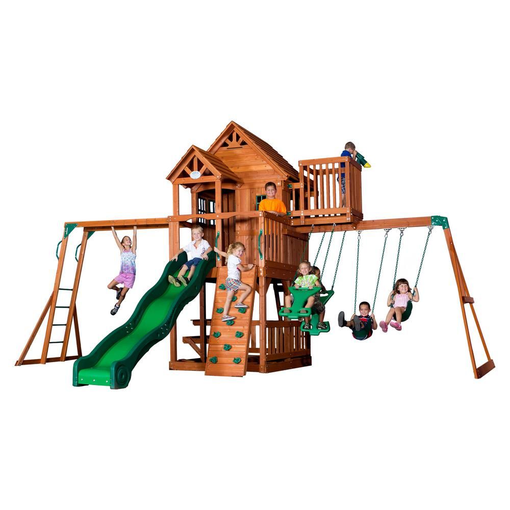 Backyard Discovery Skyfort II All Cedar Playset-6113com - The Home Depot