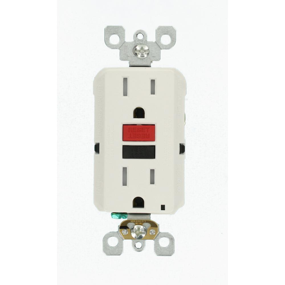 15 Amp 125-Volt Duplex SmarTest Self-Test SmartlockPro Tamper Resistant GFCI Outlet, White (3-Pack)