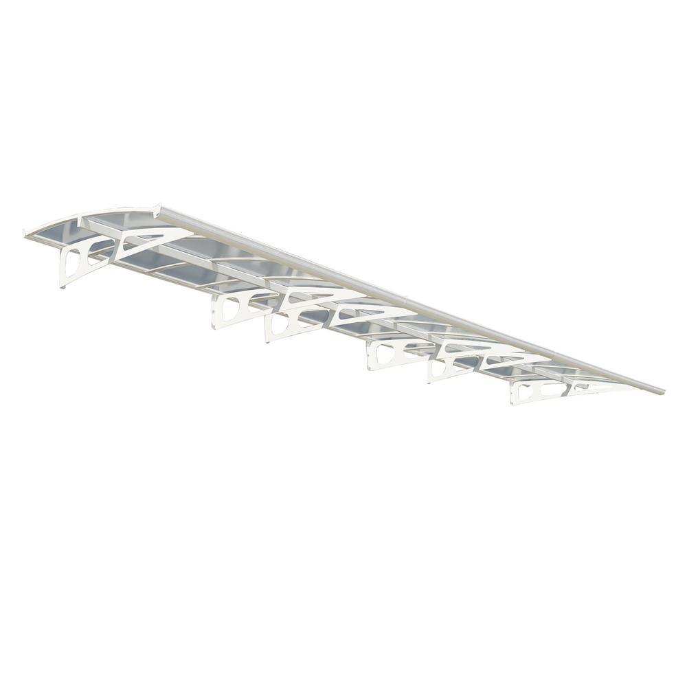 Palram Bordeaux 6690 22 ft. (13 in. H x 54.7 in. D) White Door Canopy Awning