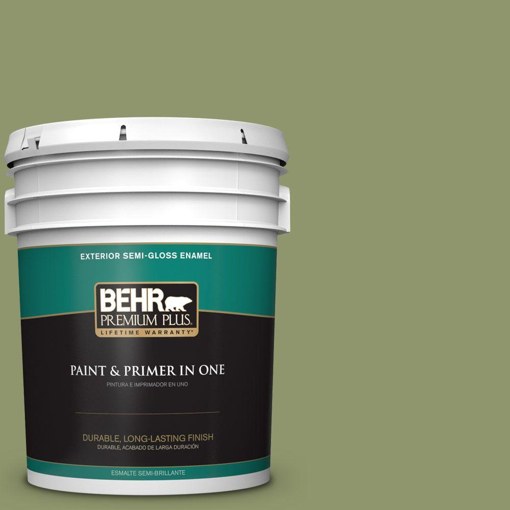 5-gal. #410F-5 Boston Fern Semi-Gloss Enamel Exterior Paint