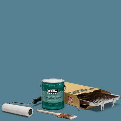 1 gal. #S470-5 Blueprint Ultra Semi-Gloss Enamel Interior Paint and 5-Piece Wooster Set All-in-One Project Kit