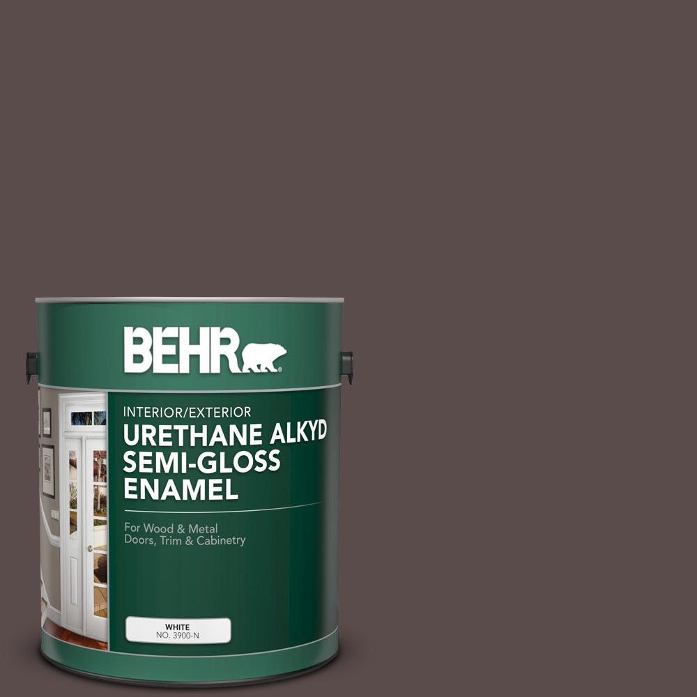 Behr 1 Gal Home Decorators Collection Hdc Ac 07 Oak Creek Urethane Alkyd Semi Gloss Enamel Interior Exterior Paint 393001 The Home Depot