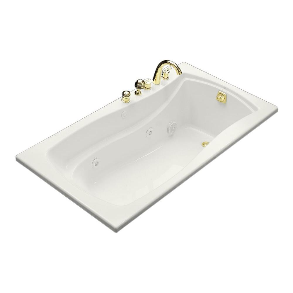 KOHLER Mariposa 5.5 ft. Acrylic Hourglass Rectangular Drop-in ...