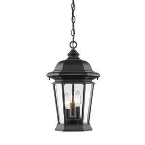 Filament Design Presley 3-Light Black Outdoor Hanging Lantern by Filament Design