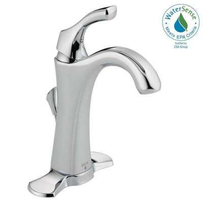 Addison Single Hole Single-Handle Bathroom Faucet with Metal Drain Assembly in Chrome
