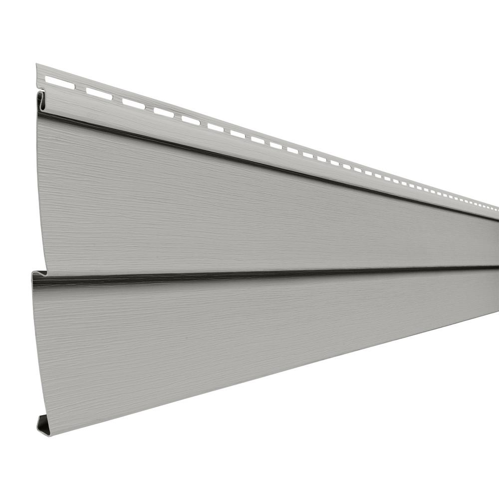 Double 4 in x 150 in pewter vinyl lap siding pc40nph for Ply gem vinyl windows reviews