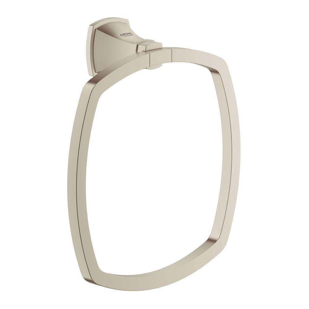 Grandera Towel Ring in Brushed Nickel Infinity