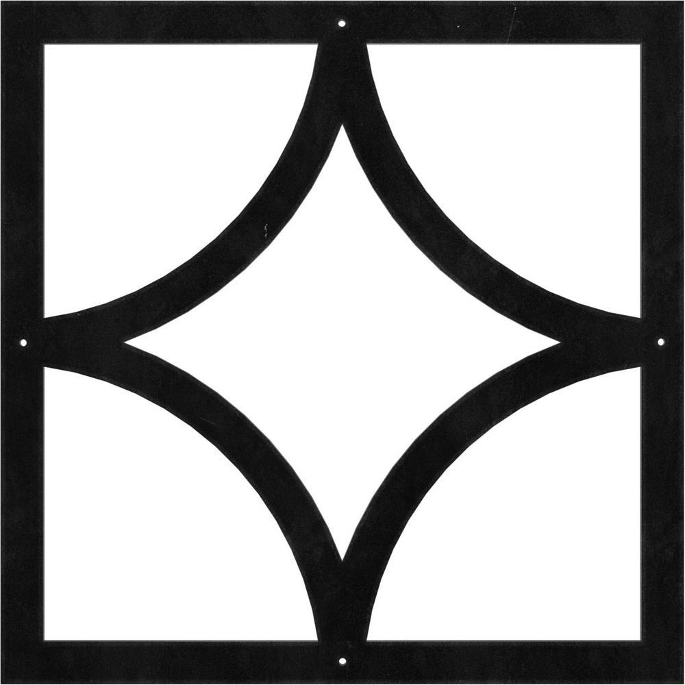Ekena Millwork 1 8 In X 24 In X 24 In Statesman Metal Pierced Ceiling Medallion Cmm24001st The Home Depot