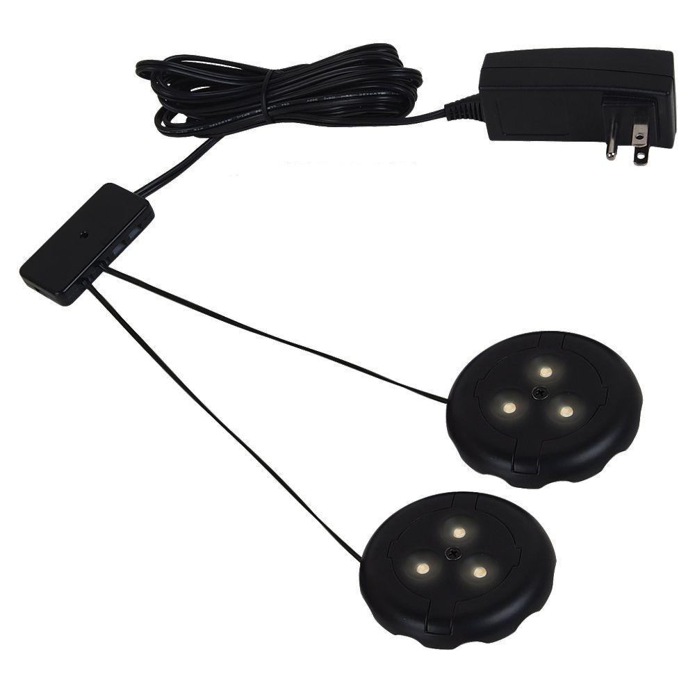 Ambiance LX LED Black Puck Light Kit