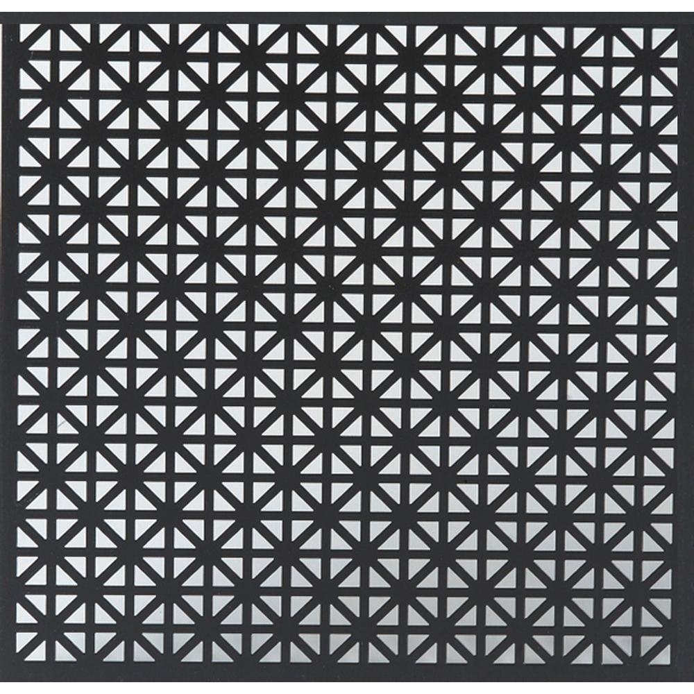 24 in. x 36 in. Union Jack Aluminum in Black
