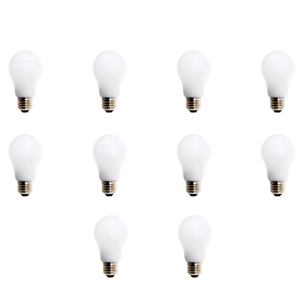 60W Equivalent Soft White A19 LED Light Bulb (10-Pack)