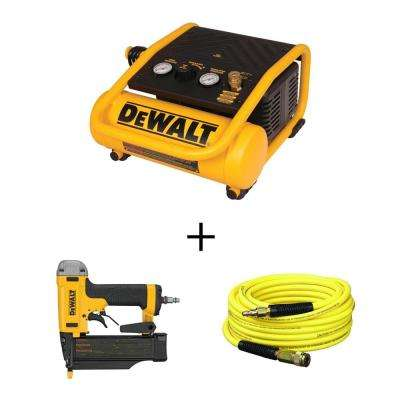 1 Gal. Portable Electric Trim Air Compressor with Bonus 23-Gauge 2 in. Pin Nailer and Hose