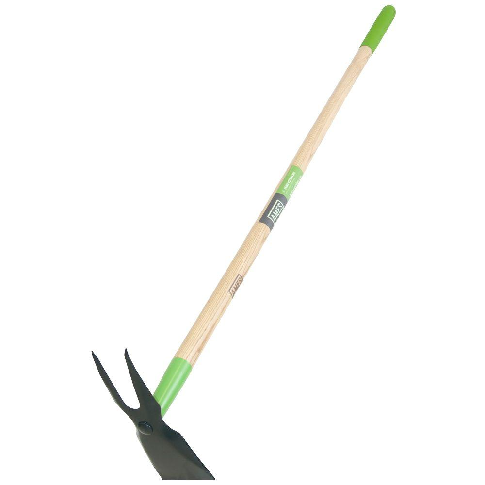 Ames 2 prong weeder hoe 2825500 the home depot for Gardening tools 4 letters