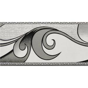 Falkirk Peel And Stick Abstract Grey Scrolls Self Adhesive