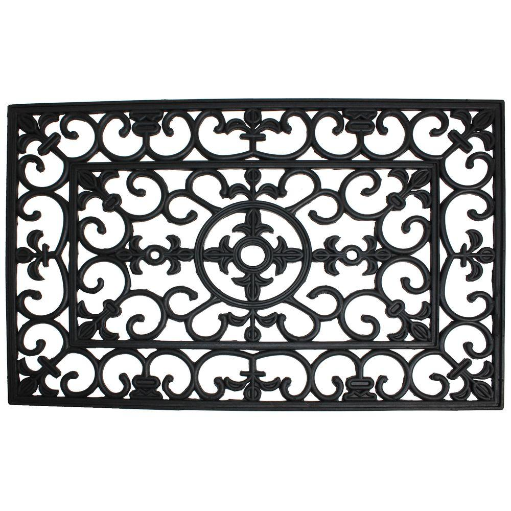 J Amp M Home Fashions Wrought Iron 18 In X 30 In Natural