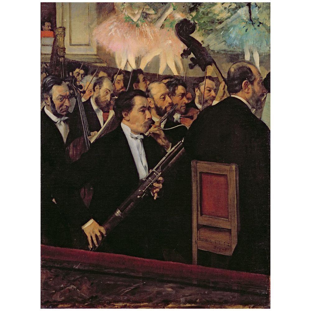 Trademark Fine Art 26 in. x 32 in. The Opera Orchestra 1870 Canvas Art