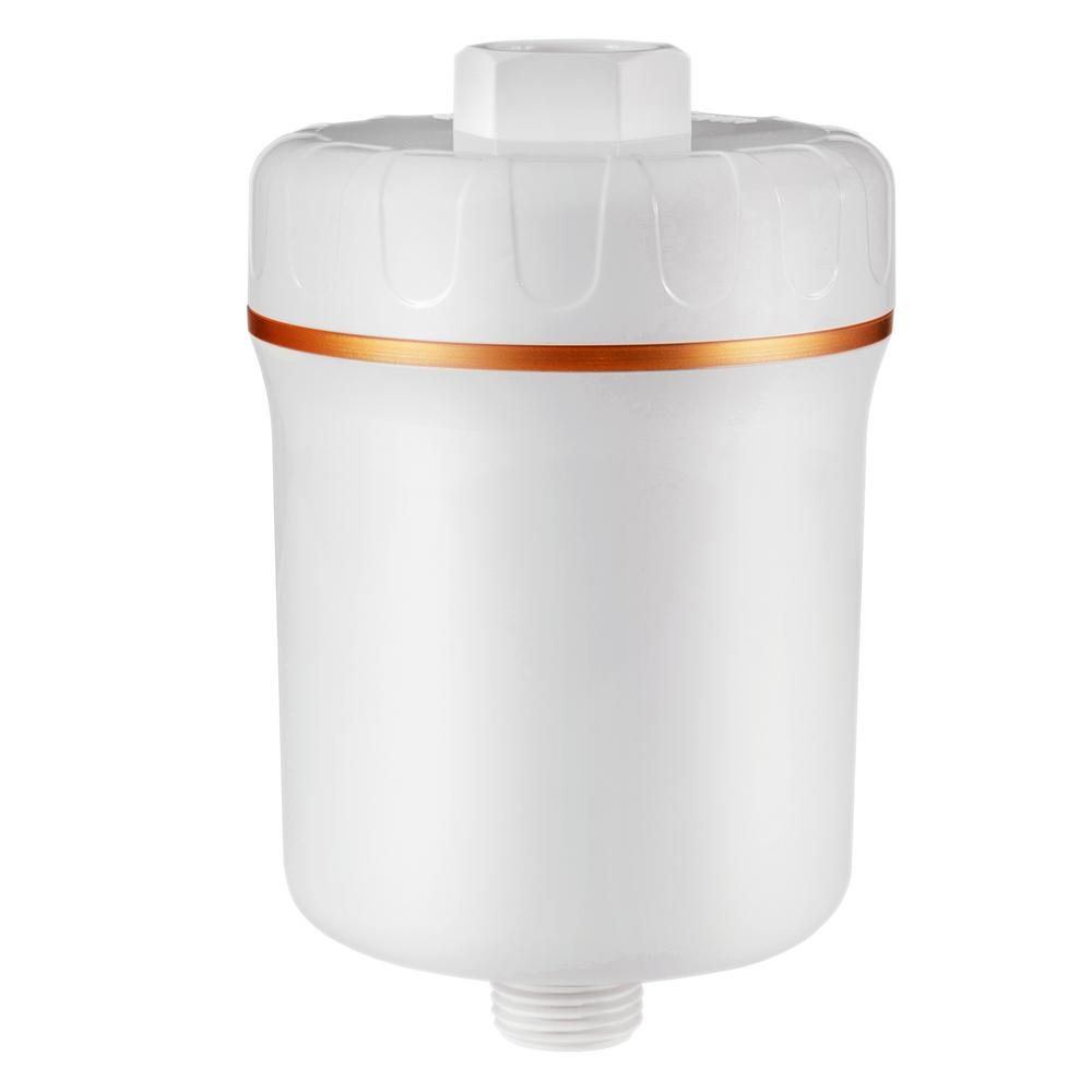 ISPRING Stylish 5-stage Shower Filter, White, Removes Chloride, Lead, Mercury, VOC and 200+more Contaminants