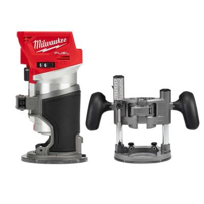 M18 FUEL 18-Volt Lithium-Ion Brushless Cordless Compact Router w/ Compact Router Plunge Base