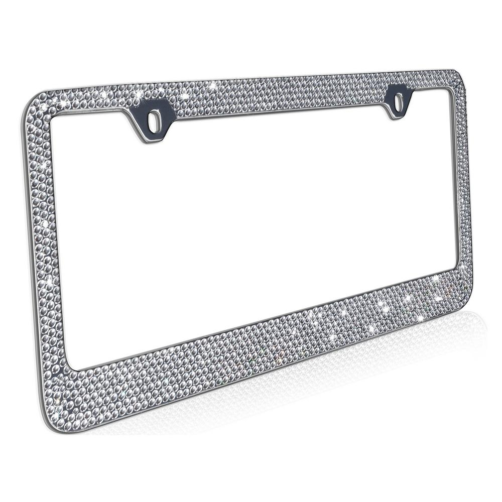 Bling Diamond Metal License Plate Frame