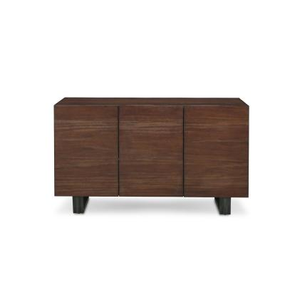 Kali Solid Mahogany Sideboard with Metal Legs