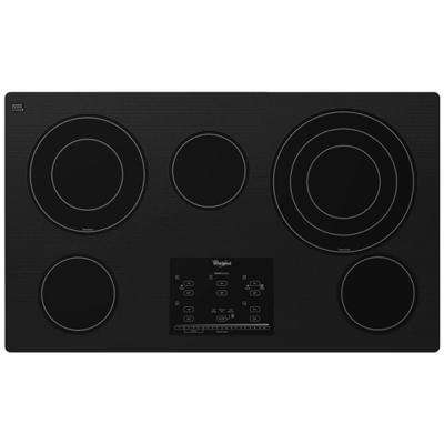 Gold 36 in. Radiant Electric Cooktop in Black with 5 Elements including AccuSimmer Plus Element